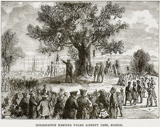 Indignation Meeting under Liberty Tree, Boston